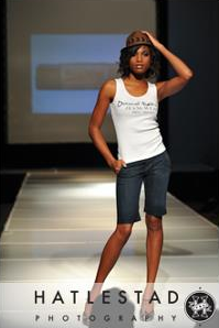 Kimberly Lola - Mercedes Benz Fashion Week - David Kahn Jeans | Photo Credit: Hatlestad Photography