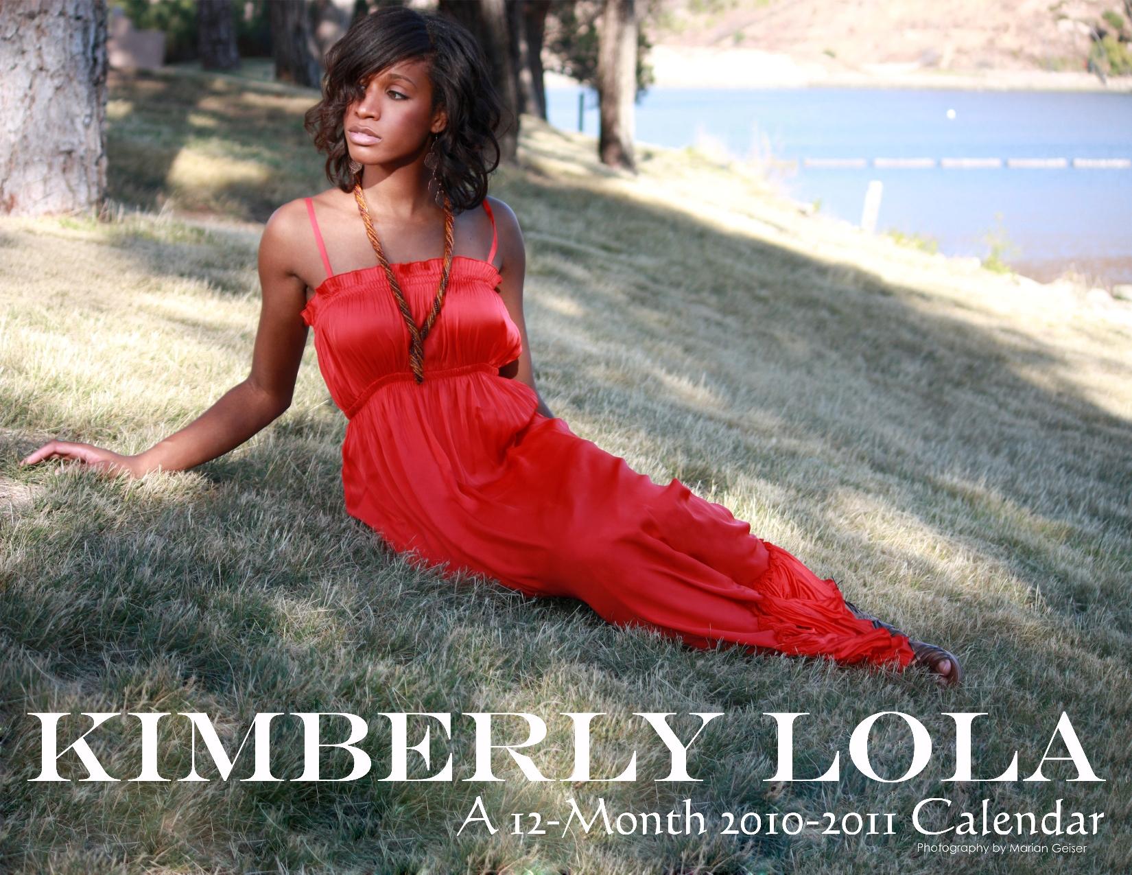 Think Like A Model Kimberly Lola 2010 Calendar Cover